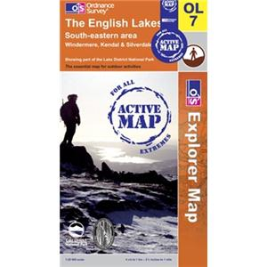 ORDNANCE SURVEY LAMINATED OUTDOOR ACTIVE MAPS